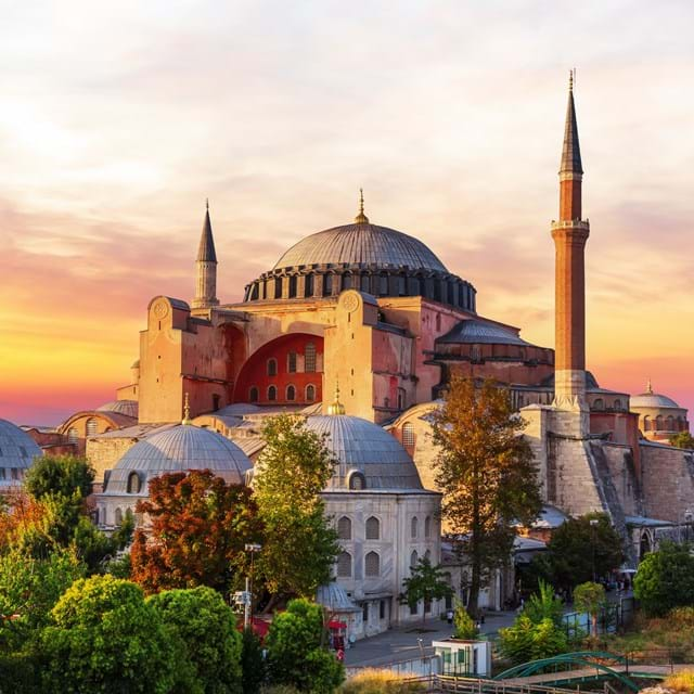 The stunning Hagia Sophia