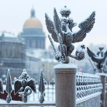 Palace Square in St Petersburg, Russia, as visited on our Christmas tour