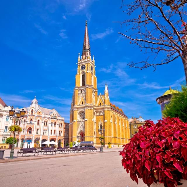Freedom square catholic cathedral, Serbia