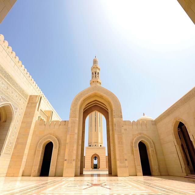 The Grand Mosque Gate, Oman