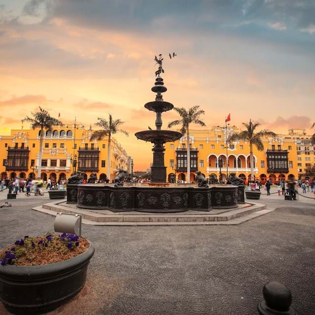 Lima main square and cathedral church