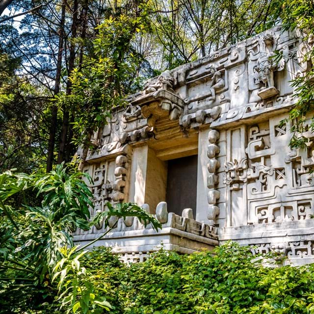 Ancient Maya temple at the Anthropology Museum