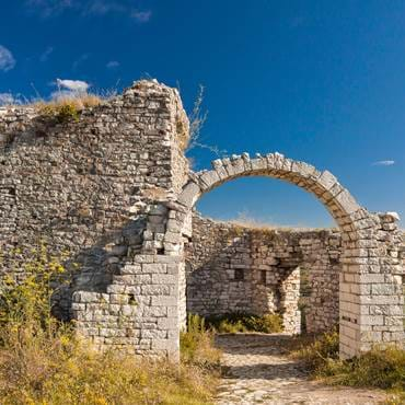 Ancient ruins in Berat