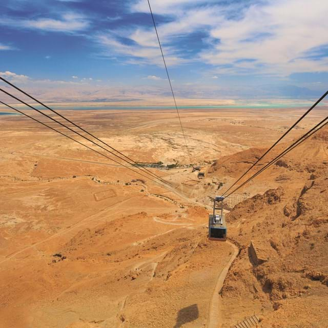 Cable car up to the Masada Fortress