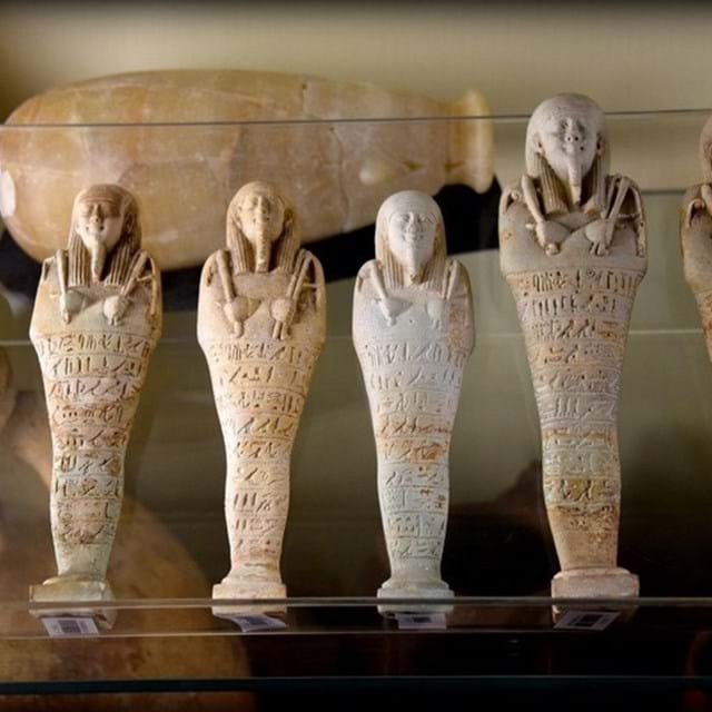 Petrie Museum shabtis (Photo by Lucia Gahlin)