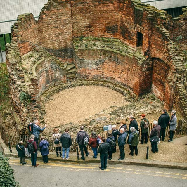 Just outside the Museum of London you can find the remains of the City of London's walls. The bastion is medieval and the brickwork is 19th century