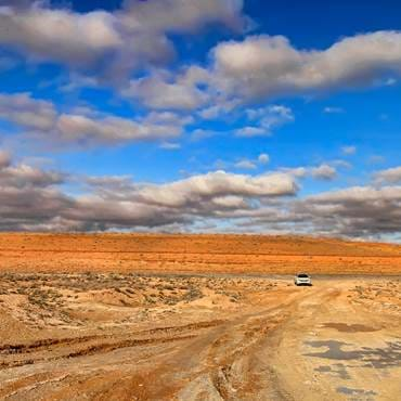Karakum desert in Turkmenistan