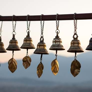 Prayer bells at Swayambhunath Stupa