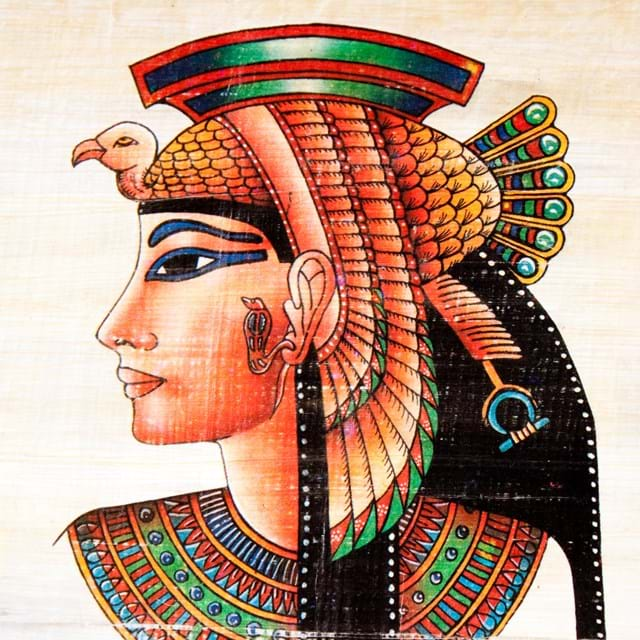 Painting of Cleopatra on Papyrus paper