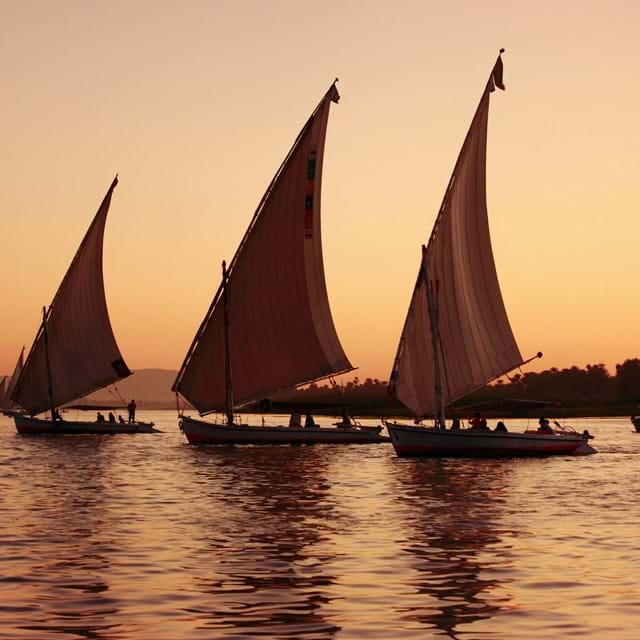 Sailboats on the River Nile