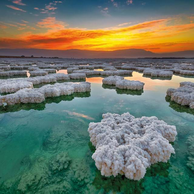 The Dead Sea at sunrise