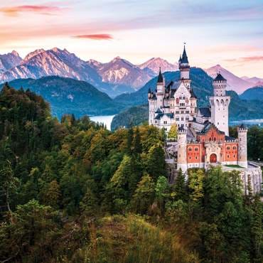 Neuschwanstein Castle at sunrise
