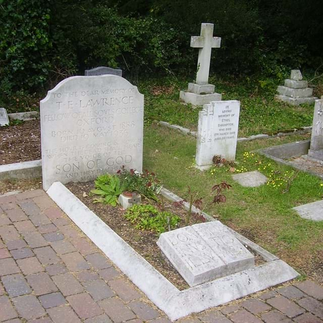 TE Lawrence's grave at Moreton