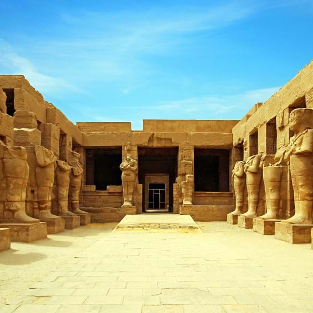 Ancient Ruins Of Karnak Temple In Luxor